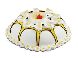 1 Kg Eggless 5-star Pineapple Cake
