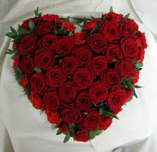 50 Red Roses Heart Shaped