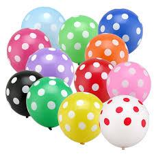 20 Polka Dot Gas Balloons