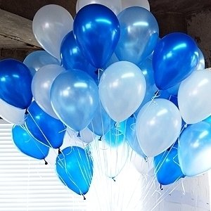 20 Gas filled Blue balloons