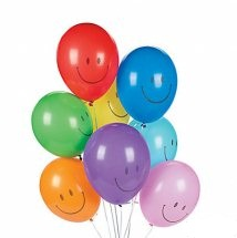 10 Smiley Gas Balloons