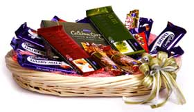 Basket of Mix cadburys Chocolates