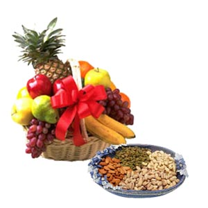 2 Kg fresh fruits + 1/2 Kg dry fruits