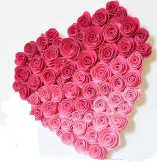 50 Ombre roses heart
