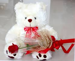 6 Inches Teddy with 1 Red rose